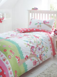 beautiful owl bed linen for the girls