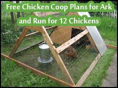 pallrt chicken coop | Free Chicken Coop Plans for Ark and Run for 12 Chickens