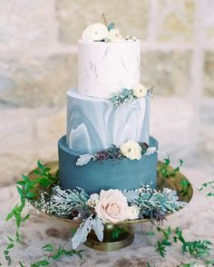 blue shade watercolor wedding cake 2 wedding cakes blue 20 Best Shades of Blue Wedding Color Ideas for 2020 Elegant Wedding Cakes, Wedding Cake Designs, Blue Wedding Cakes, Pastel Blue Wedding, Autumn Wedding Cakes, Wedding Rustic, Trendy Wedding, Lace Wedding, Wedding Flowers