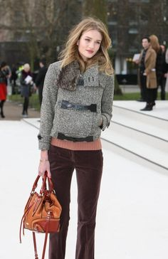 Rose Huntington-Whiteley, London Fashion Week