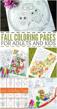 Looking to celebrate the change in season with a little color? How about a little coloring? Have some family fun with these free fall coloring pages for kids and adults.