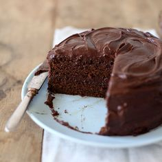 This is a real old-fashioned American chocolate layer cake. It's very moist, very chocolatey, a snap to make and best baked the day before serving. Ma...