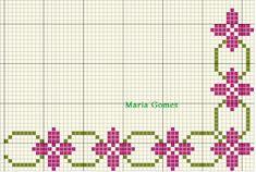 Maria Gomes : Os Meus Gráficos de Ponto Cruz Cross Stitch Boarders, Cross Stitch Love, Cross Stitch Designs, Cross Stitch Patterns, Filet Crochet Charts, Afghan Crochet Patterns, Pixel Art, Lily, Embroidery