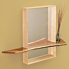 Entry Hall Mirror with Shelf