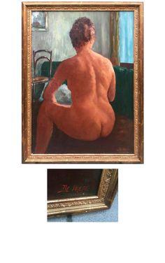 Jules-Evariste De Paepe (1887-1968), huile sur toile, signée.