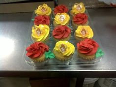 Beauty and the Beast cupcakes I designed while working for Kroger