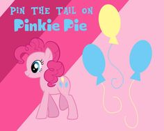My Little Pony Pin The Tail on Pinkie Pie Game by anas129 on Etsy