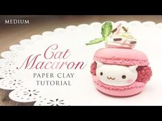 How To Make Macaron Cat – Kawaii Clay Tutorial - YouTube