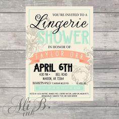 Pink Gold Lingerie Shower Invitation Gold Glitter Lace Pink