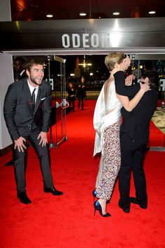 "When then they attacked each other on the red carpet and Liam was like, ""Ha ha ha my silly friends..."" 