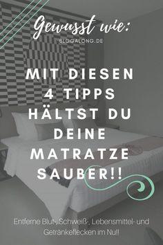 Flecken auf deiner Matratze beseitigen #haushalt #flecken #matratze #reinigung #putzen #blogalong
