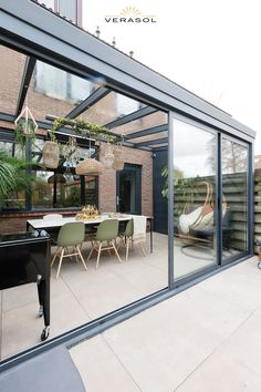 House Extension Plans, House Extension Design, House Design, Backyard Patio Designs, Backyard Landscaping, Rooftop Terrace Design, Garden Room Extensions, Casas Containers, Outdoor Living Rooms