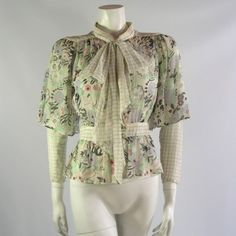 A lovely @vintage Ossie Clark blouse with Celia Birtwell print.