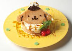 "Too cute to eat! ""POMPOMPURIN Cafe"" grand opens in Harajuku    Banana Caramel Pancake"