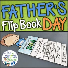 Fathers Day Flip Book Activity by The Barefoot Teacher - Becky Castle Father's Day Activities, Ocean Activities, Fathersday Crafts, Father's Day Printable, Fun Crafts To Do, Fish Crafts, Kids Part, Father's Day Diy, Diy Father's Day Book