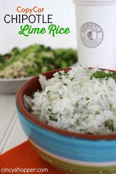 CopyCat Chipotle Lime Rice Recipe. So simple but full of flavor! Will be a great side with many dishes.