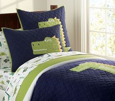 Dino's Attack Quilted Bedding - Pottery Barn Kids