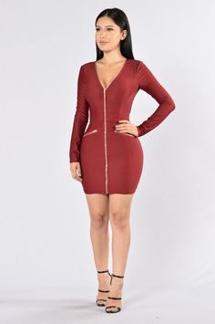 It Don't Come Easy Dress - Wine