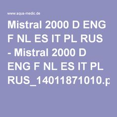 Mistral 2000 D ENG F NL ES IT PL RUS - Mistral 2000 D ENG F NL ES IT PL RUS_14011871010.pdf