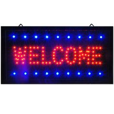 """Bright Animated LED Welcome Shop Store Bar Open Sign 19x10"""" Display Light neon #Zh"""