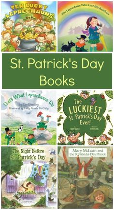 St. Patrick's Day books full of good luck, leprechauns, gold and rainbows.