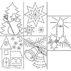 Borduurkaarten Kerst Christmas Crafts For Kids, Christmas Colors, Christmas 2019, Christmas Cards, Colouring Pics, Theme Noel, Christmas Coloring Pages, Paper Embroidery, Fun Activities For Kids
