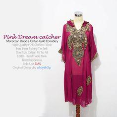 Moroccan Pink Hoddie Caftan Dubai Abaya Maxi dress by aboyshop, $55.55