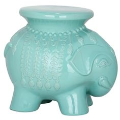 @Overstock.com - Safavieh Paradise Elephant Light Blue Ceramic Garden Stool - Accent your garden, patio, or any indoor room with this paradise elephant light blue ceramic garden stool.  http://www.overstock.com/Home-Garden/Safavieh-Paradise-Elephant-Light-Blue-Ceramic-Garden-Stool/7731243/product.html?CID=214117 $134.99
