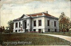 Carnegie Library Washington Indiana. Where I discovered the joy of reading ♥