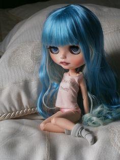 ooak custom blythe doll Mandy Cotton Candy RBL by Gerakina