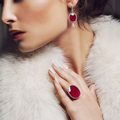 "bayco: "" #ruby #diamond #jewelry #bayco #baycojewels #highjewelry #highjewellery #hautejoaillerie #earrings #ring #luxury """