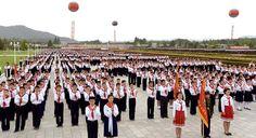 조선소년단창립 70돐경축 조선소년단 전국련합단체대회 진행-《조선의 오늘》