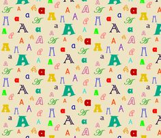 Initially_A fabric by lesleyclover-brown on Spoonflower - custom fabric