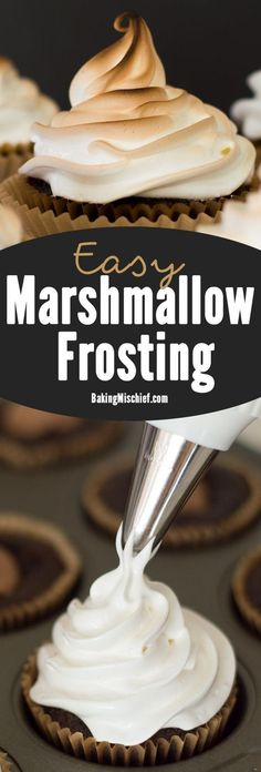 Light and fluffy marshmallow frosting.