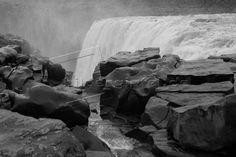 Island; Am Wasserfall »Dettifoss«