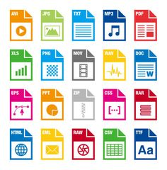 850 file type vector icons by dreamstale on creative market