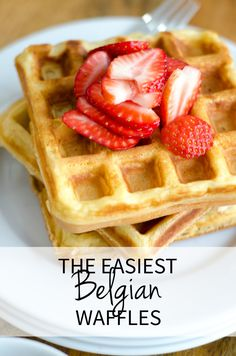 A Belgian waffle recipe so easy, so delicious, you will never need another waffle recipe in your repertoire. Ready start to finish in fifteen minutes!
