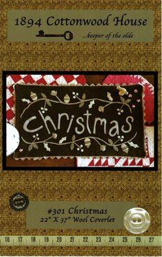 Christmas Wool Coverlet