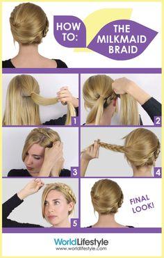How to do an easy milkmaid braid with YouTube hair guru Sasha Coefield