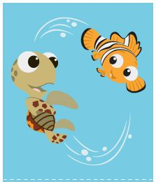 On-the-Go Activity Cards from Disney Baby - they never actually met in the movie did they? Baby Disney, Disney Art, Disney Pixar, Disney Activities, Baby Activities, Finding Nemo 2003, Disney Illustration, Baby Store, Drawing Ideas