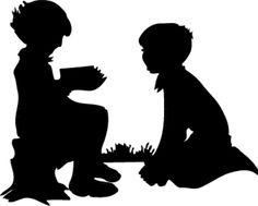 Silhouette Clip Art   Children Silhouette Clip Art image