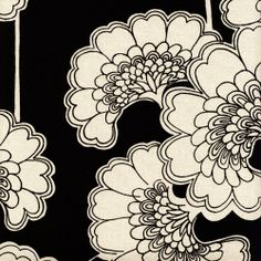 FLORENCE BROADHURST hand painted her designs which were then hand screen printed tangle zentangle doodle Art Nouveau Pattern, Pattern Art, Pattern Design, Textile Patterns, Textile Design, Print Patterns, Textile Prints, Textile Art, Deco Design