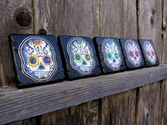 Hey, I found this really awesome Etsy listing at https://www.etsy.com/listing/88455255/sugar-skulls-tile-coaster-set-day-of-the