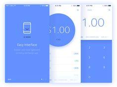 Currency App by Dmitri Litvinov App Ui Design, Mobile App Design, Interface Design, User Interface, Flat Design, Mobile Ux, Chill Quotes, Portfolio Presentation, Balance Design