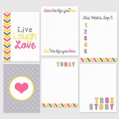 Project Life Printables  3x4  Journaling by PerpetualLoveDesign on Etsy