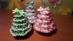 Diy Natale - Alberelli all'uncinetto veloci da fare! - YouTube
