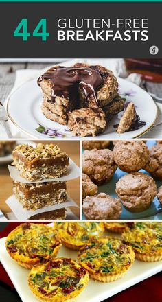 44 Easy Breakfast Recipes You Won't Believe Are Gluten-Free — So delicious, you won't even miss the gluten! #glutenfree #breakfast #recipes #greatist