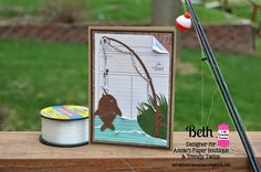 Beth's Beauties: Fishing Card for Dad #trendytwine