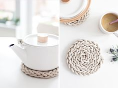 All you need to make this nifty trivet is nine metres of cord and your own trusty fingers.