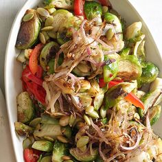 Brussels Sprouts with Caramelized Shallots and Pepitas